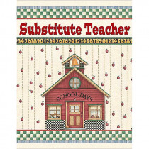 TCR4523 - Dm Substitute Teacher Pocket Folder in Substitute Teachers