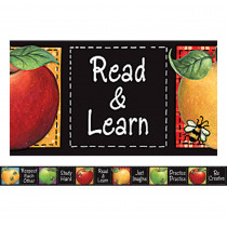 TCR4748 - Susan Winget Colorful Apples Straight Border Trim in Border/trimmer