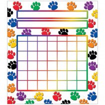 TCR4773 - Colorful Paw Prints Incentive Chart 5 1/4 X 6 36/Pk in Incentive Charts