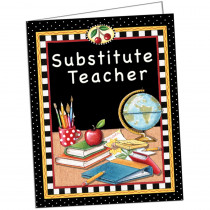 TCR4834 - Substitute Teacher Pocket Folder Tc in Substitute Teachers