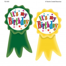 TCR4851 - Birthday Ribbons Wear Em Badges in Badges