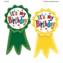 TCR4851 - Birthday Ribbons Wear Em Badges in Badges