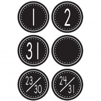 TCR4878 - Black/White Crazy Circles Calendar Days Mini Pack Circle Shape in Calendars