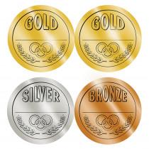 TCR4911 - Medals Wear Em Badges Self Stick in Badges