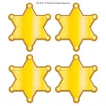 Western Sheriff Stars Wear 'Em Badges - TCR5019   Teacher Created Resources   Badges