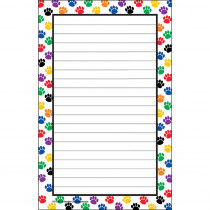 TCR5087 - Colorful Paw Prints Notepad in Note Pads