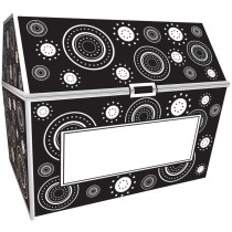TCR5088 - Black & White Crazy Circles Chest in Novelty