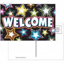 TCR5225 - Fancy Stars Welcome Postcards in Postcards & Pads
