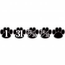 TCR5232 - Calendar Days Black Paw Prints in Calendars