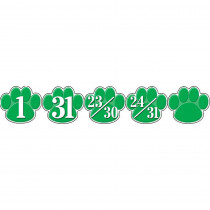 TCR5235 - Calendar Days Green Paw Prints in Calendars