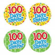 TCR5393 - 100 Days Smarter Wear Em Badges in Badges