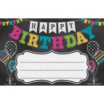 Chalkboard Brights Happy Birthday Awards - TCR5466 | Teacher Created Resources | Awards