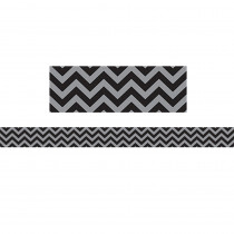 TCR5472 - Black Chevron Straight Border Trim in Border/trimmer