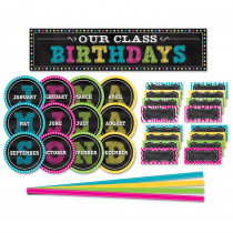 TCR5506 - Chalkboard Brights Mini Bulletin Board Set in Classroom Theme