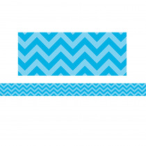 TCR5508 - Aqua Chevron Straight Border Trim in Border/trimmer