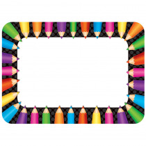 TCR5513 - Colored Pencils Name Tags in Name Tags