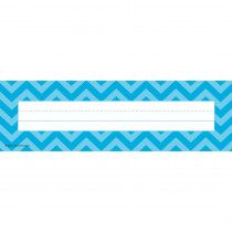 TCR5527 - Aqua Chevron Name Plates in Name Plates
