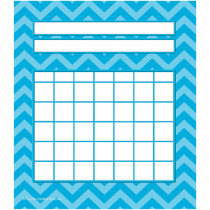 TCR5530 - Aqua Chevron Incentive Charts Pack in Incentive Charts