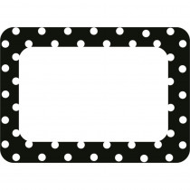 TCR5538 - Black Polka Dots 2 Name Tags in Name Tags