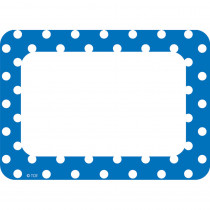 TCR5585 - Blue Polka Dots Name Tags Labels in Name Tags