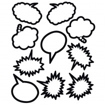 TCR5592 - Superhero Black & White Speech Thought Bubbles Accents in Accents