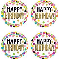 Confetti Happy Birthday Wear 'Em Badges - TCR5598 | Teacher Created Resources | Badges