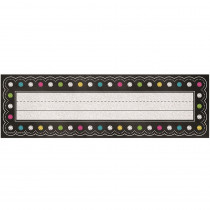 TCR5624 - Chalkboard Brights Flat Name Plates in Name Plates