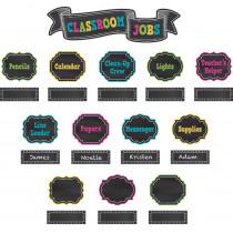 TCR5653 - Chalkboard Brights Classroom Jobs in Classroom Theme