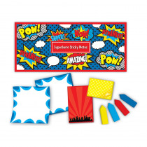 TCR5664 - Superhero Sticky Notes in Post It & Self-stick Notes