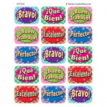 TCR5734 - Good Work Spanish 90 Jumbo Stickers in Foreign Language