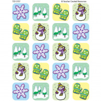 TCR5757 - Winter Season Stickers 120 Stks in Holiday/seasonal
