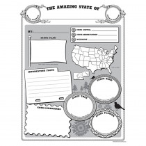 TCR5800 - Amazing State Poster Pack in Social Studies
