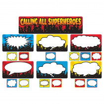 TCR5825 - Calling All Superheros Mini Bulletin Board Set in Classroom Theme