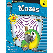 TCR5962 - Ready Set Learn Mazes Kindergarten in Tracing