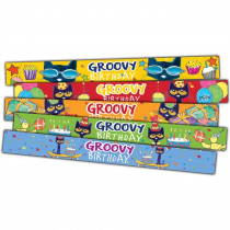Pete the Cat Groovy Birthday Slap Bracelets, Pack of 10 - TCR62007 | Teacher Created Resources | Motivational