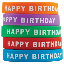 TCR6559 - Happy Birthday Wristbands in Novelty