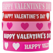 TCR6564 - Happy Valentines Day Wristbands in Novelty