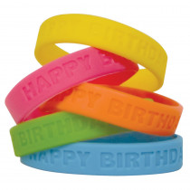 TCR6574 - Happy Birthday 2 Wristbands in Novelty