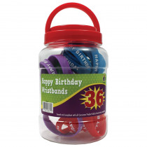 TCR6577 - Happy Birthday Wristbands Jar in Novelty