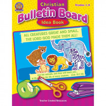 TCR7027 - Christian Bulletin Board Idea Book Gr 1-6 in Inspirational