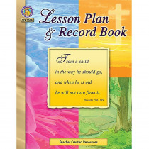 TCR7028 - Christian Lesson Plan And Record Bk in Plan & Record Books