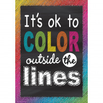 TCR7400 - Color Outside Lines Positive Poster in Inspirational