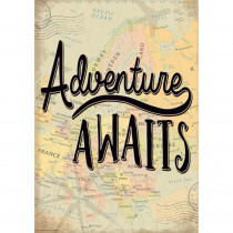 Adventure Awaits Positive Poster - TCR7432 | Teacher Created Resources | Motivational