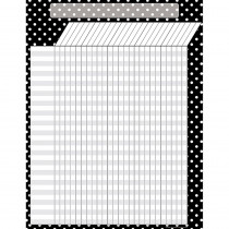 TCR7604 - Black Polka Dots Incentive Chart in Incentive Charts