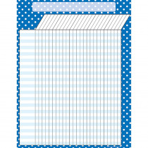 TCR7621 - Blue Polka Dots Incentive Chart in Incentive Charts