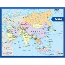 TCR7652 - Asia Map Chart 17X22 in Maps & Map Skills