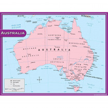 TCR7653 - Australia Map Chart 17X22 in Maps & Map Skills