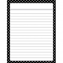 TCR7677 - Black Polka Dots Chart in Classroom Theme