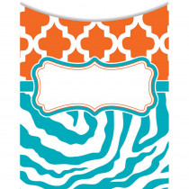 TCR77088 - Wild Moroccan Orange & Teal Library Pockets in Organizer Pockets