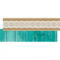 TCR77176 - Shabby Chic Ribbon Runner in Border/trimmer
